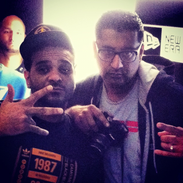 DJ Sharad with Jim Jones