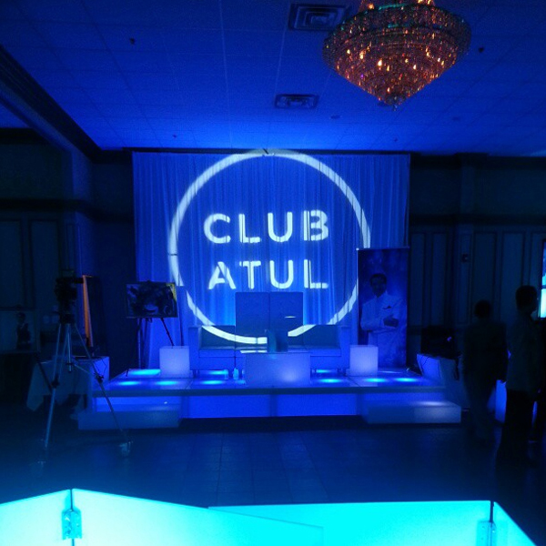 Atul's custom designed gobo