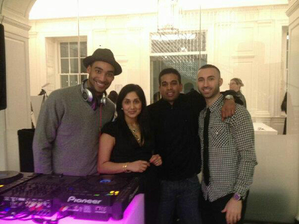 DJ Zeke Thomas, Kavita Mehra of GlamourGals, SM Event Group's Manu Mathew and Edward Jamele