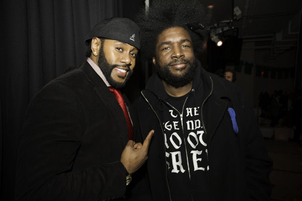 DJUSA's MC Marco Glorious with Questlove