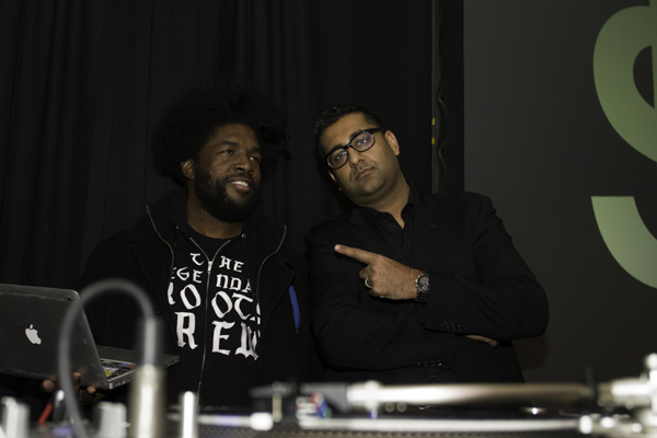 DJUSA's DJ Sharad with Questlove