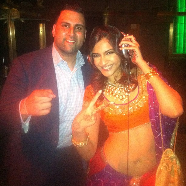 DJ Juicy with Sonam Kapoor at Cipriani 42